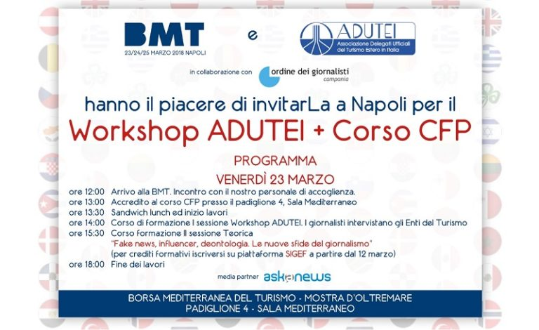 Formazione giornalisti: appuntamento in BMT il 23 marzo