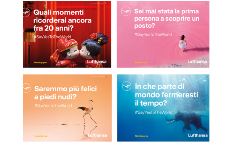 Say yes to the world, la nuova campagna globale Lufthansa