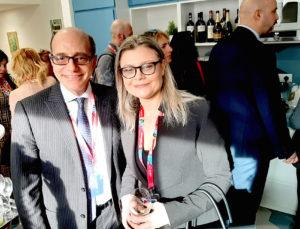 Francesco Tapinassi e il presidente Fiavet Ivana Jelinic