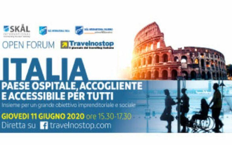 Italia paese ospitale, accogliente e accessibile: open forum l'11 giugno