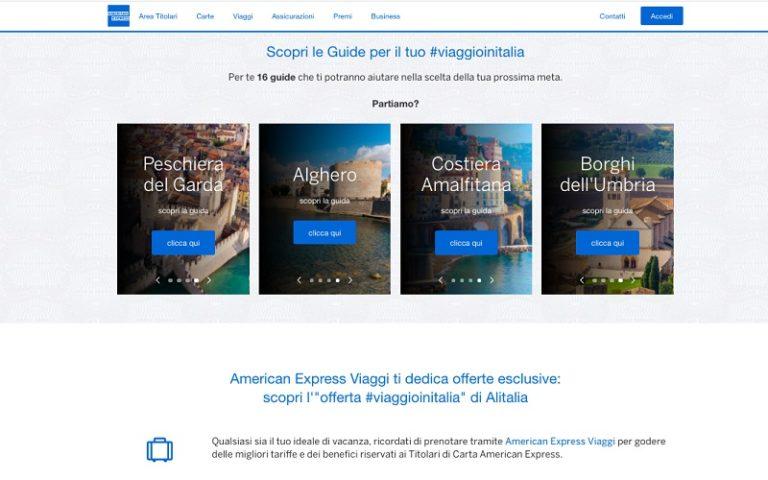American Express lancia 'Viaggio in Italia'