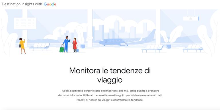 Google per il Turismo: arriva in Italia Destination Insights