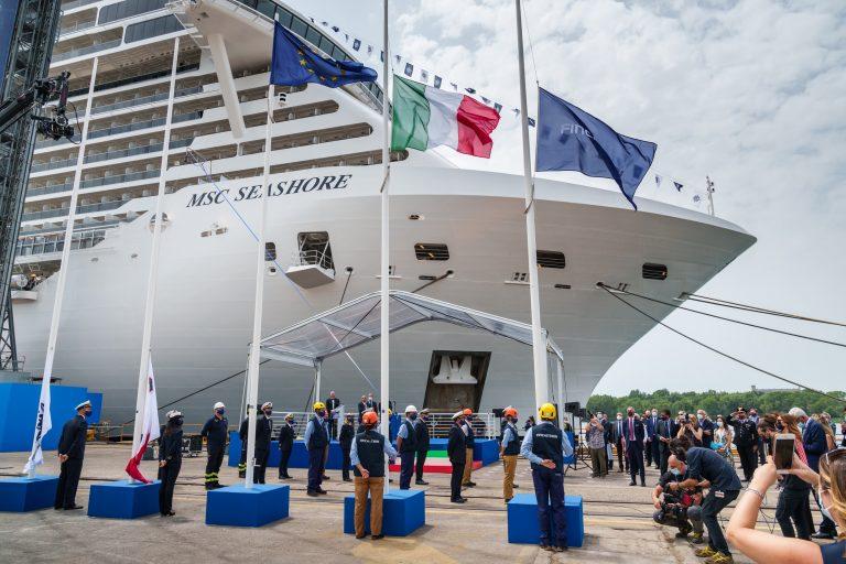 MSC prende in consegna la nuova MSC Seashore da Fincantieri