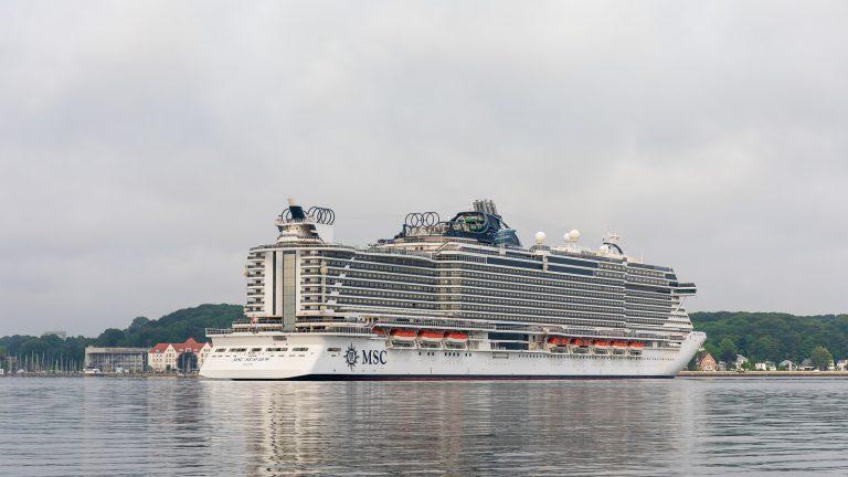 MSC Seaview riparte da Kiel per il nord Europa